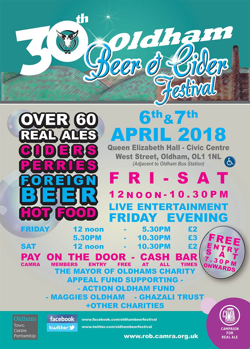 30th Oldham Beer Festival leaflet